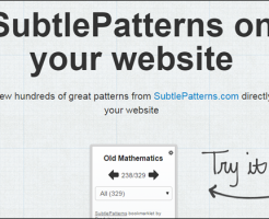 SubtlePatterns Bookmarklet