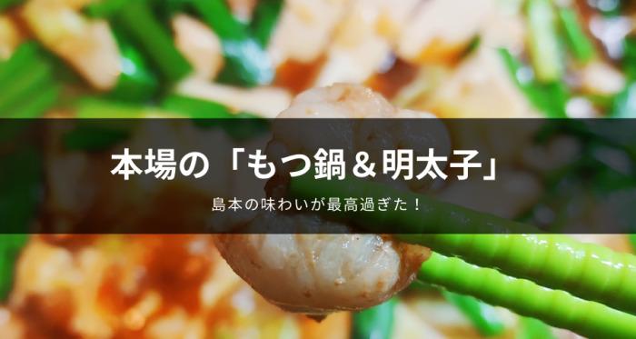 島本の辛子明太子と博多もつ鍋 九州醤油味